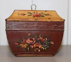 French toleware tea caddy