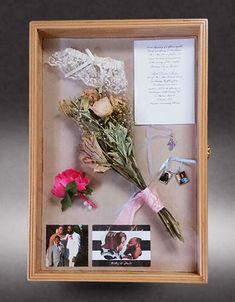 Wedding Bouquet shadow box