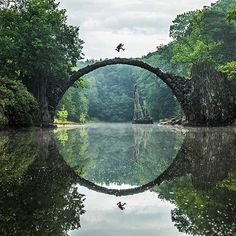 Add this unique sight to your Germany travel - the Rakotzbrücke creates the optical illusion of a perfect circle. Find out how.