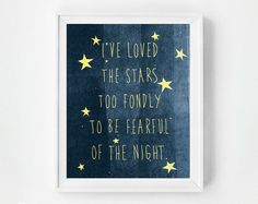 Star themed nursery art print. Such a lovely quote.
