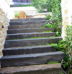 Bluestone Slab Steps [repinned from Nick McCullough]