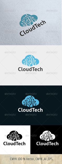 Logo for sale 29$ only in graphicriver  CloudTech