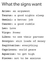 What the signs want