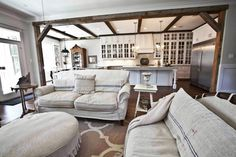 French White Living Room - Cedar Hill Farmhouse
