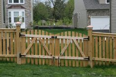 Creative Double Wood Fence Gate