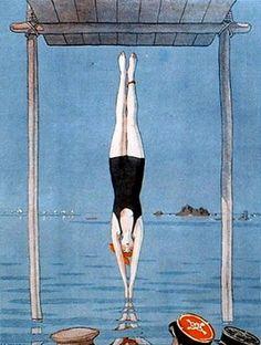 Illustration by André Édouard Marty, for La Vie Parisienne