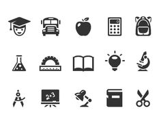 School and Education Icons by Pixotico School Icon, Education Icon, Custom Icons, Learning Disabilities, Icon Set, Identity, Royalty Free Stock Photos, Dyslexia, Image