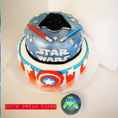 star wars captain america cake