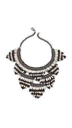 Deepa Gurnani Layered Petal Necklace