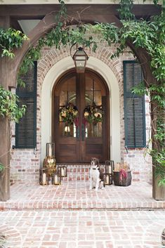 Beautiful fall front entry