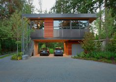 New Avenue : John and Kathleen - Santa Cruz : Architectural StyleEllis Residence (LEED Platinum certified). Looking for carport photos, I found this.