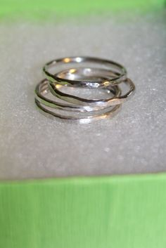 Skinny stackable sterling silver rings https://www.etsy.com/listing/128409668/free-shipping-sterling-silver-stacking