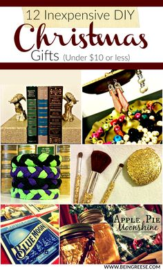 12 Inexpensive DIY Christmas Gifts ($10 or Less)