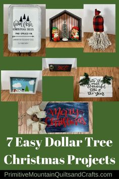 Christmas season! I Time to use from the stash. I'll be sharing my 7 Easy Dollar Tree and Cricut Christmas Projects here with you all.pic