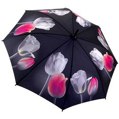 Galleria Art Print Auto Open & Close Folding Umbrella - Tulips Ref: 30135 Price: £24.95 (Including VAT at 20%)