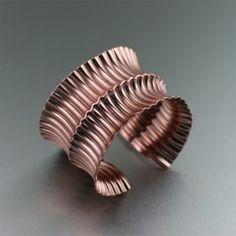 Fold Formed Corrugated Copper Cuff