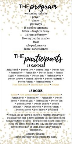 Event organizing and management   Party plan   Debut ideas ...
