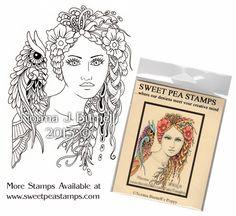 Poppy - Original Fairy Tangles™ designs by Norma J Burnell