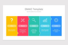 DMAIC Model PowerPoint PPT Template is a professional Collection shapes design and pre-designed template that you can download and use in your PowerPoint. The template contains 20 slides you can easily change colors, themes, text, and shape sizes with formatting and design options available in PowerPoint. Ppt Template, Templates, Keynote, Color Change, Presentation, Diagram, Shapes, Colors, Google