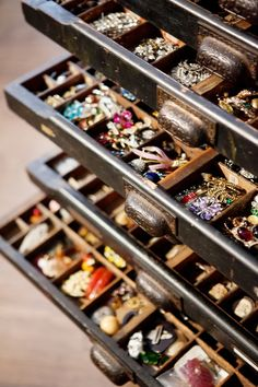 Vintage Printer Tray Turned Jewelry Organizer // Live Simply by Annie  Why didn't I think of that!