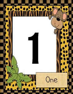Jungle Themed Numbers $1
