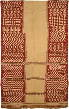Africa | Wool woven textile from the Kabyle women | 19th century