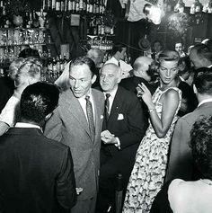 Frank Sinatra, Sam Giancana, Lauren Bacall