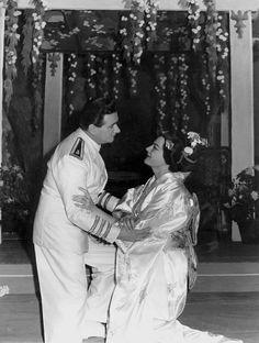 Renata Tebaldi as Cio-Cio San in Puccini's 'Madama Butterfly'