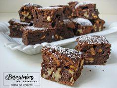 Cocina – Recetas y Consejos Brownie Recipes, Dessert Recipes, Key Lime Pie, Chocolate Brownies, Tasty Dishes, Fudge, Sweet Recipes, Cravings, Bakery