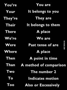 Just to clarify - I wish more people would educate themselves on these.  Silently correcting them is getting exhausting. :)