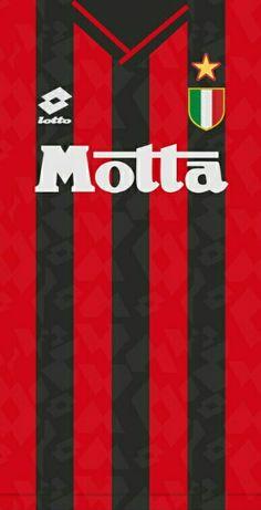 Ac milan Soccer Kits, Football Kits, Football Jerseys, Ac Milan Shirt, Camisa Arsenal, Bayern Munich Wallpapers, Milan Wallpaper, Football Wallpaper, Vintage Football