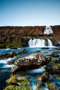 Dynjandi Waterfall in the Westfjords of Iceland. #waterfall #iceland