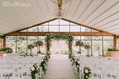 Elegant Garden Wedding with Shades of Purple Greenery Wedding Ceremony Flowers, Greenery Floral Arch, Greenery Aisle Flowers Wedding Ceremony Ideas, Wedding Venue Inspiration, Unique Wedding Venues, Wedding Vendors, Elegant Wedding, Weddings, Ceremony Arch, Wedding Programs, Reception Ideas