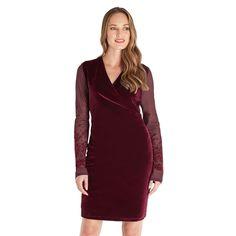 517ead5a938 Joe Browns Red Velvet V-Neck Wrap Dress Size UK 10 rrp 49.95 DH081 EE