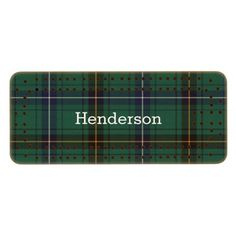 Clan Henderson Tartan Plaid Cribbage Board Wood Cribbage Board