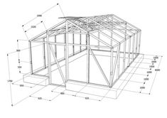 dacă Greenhouse Construction, Structural Drawing, Farm Cafe, Solar, Wooden Greenhouses, Raised Bed Garden Design, Duck House, City Farm, Diy Greenhouse