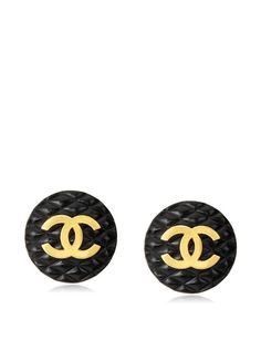 d686670e76c3 CHANEL Large Black Quilted Earrings at MYHABIT For an ultimate pair of  stand-out studs the classic CHANEL logo is guaranteed to get u noticed!