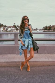 weekend wear! so cute! love the overalls