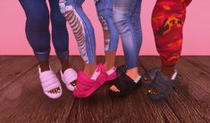 The Sims 4 UGG Fluff Slides by kiegross Sims 4 Teen, Sims Four, Sims Cc, Sims 4 Toddler Clothes, Sims 4 Cc Kids Clothing, Sims 4 Collections, Sims 4 Traits, Sims 4 Children, Sims 4 Characters