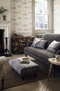 Like the plaid touches, clean color pallet and lines
