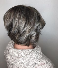 Makeover: Gray Blending + Asymmetrical Bob - Hair Color - Modern Salon
