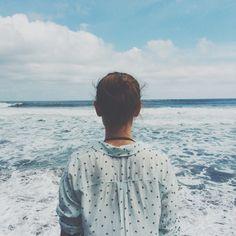 girl ocean