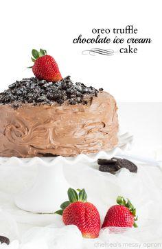 Chocolate Ice Cream Oreo Truffle Cake