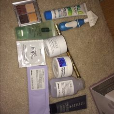 Delux travel bundle New never used any of them contains two creams the full size 2oz derma e is 29$ full size borghese is over 35$ plus contains FULL size clinque pallet four neutral tones to enhance  eyes love shampoo full size is 25$ Makeup