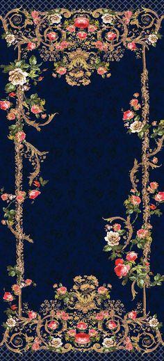 48 Ideas For Fashion Design Presentation Behance Textile Prints, Textile Design, Fabric Design, Mirror Painting, Fabric Painting, Glass Printing, Printing On Fabric, Flower Wallpaper, Pattern Wallpaper