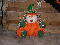 This snowman was in my office where I worked.  I dressed him for Halloween.  He sang Christmas songs.