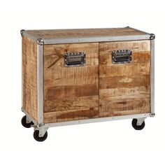 Natural Mango Wood Mobile Sideboard Table - Overstock™ Shopping - Great Deals on Coffee, Sofa & End Tables