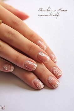 """Search for """"wedding nails"""" and you find some really ugly stuff! These though are special and still classy. Won't look back on 20 years later and say """"man, what a hideous trend that was in 2013! What was I thinking?""""  Look like a lot of work though."""
