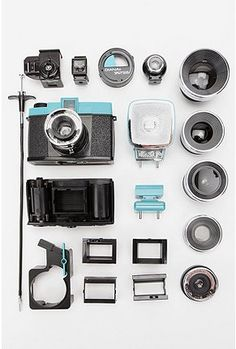 Lomography Diana Deluxe Package — this camera is insane! it comes w/everything anyone who still loves to wind their own film, could possibly need! Super Wide Lens, Lomo Camera, Film Camera, 35mm Film, Camera Lens, Hardcover Photo Book, Close Up Lens, Holga, Multiple Exposure