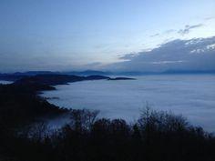 Nebelsuppe löffeln auf dem Uetliberg. Switzerland, Celestial, Flat, Sunset, Holiday, House, Outdoor, Mists, Communication